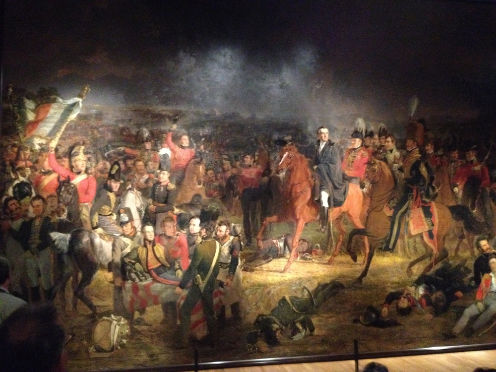 The famous painting of Waterloo