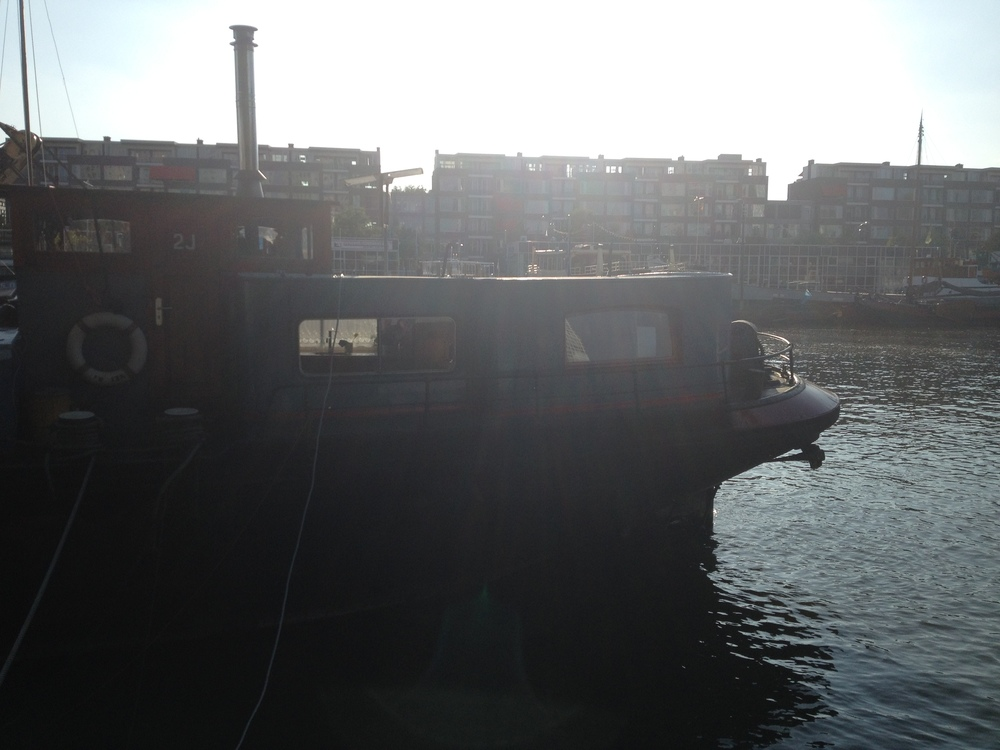 The infamous barge we slept on for a night in Rotterdam.