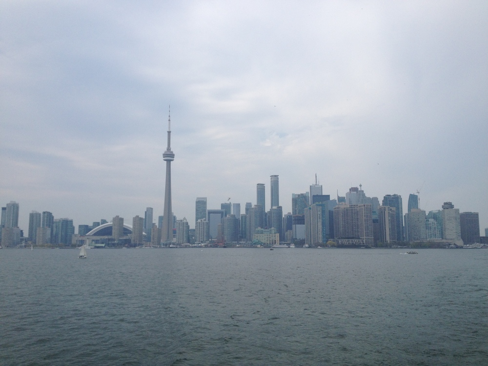 Toronto skyline from the island just south of the city.
