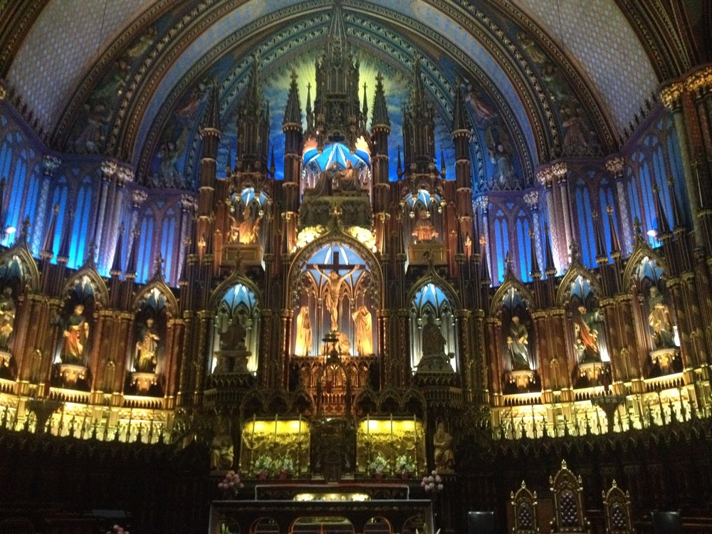 Inside the Basilica in Montreal
