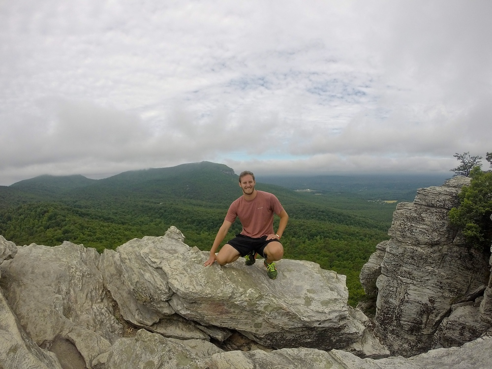 Hike up Hanging Rocks outside of Greensboro