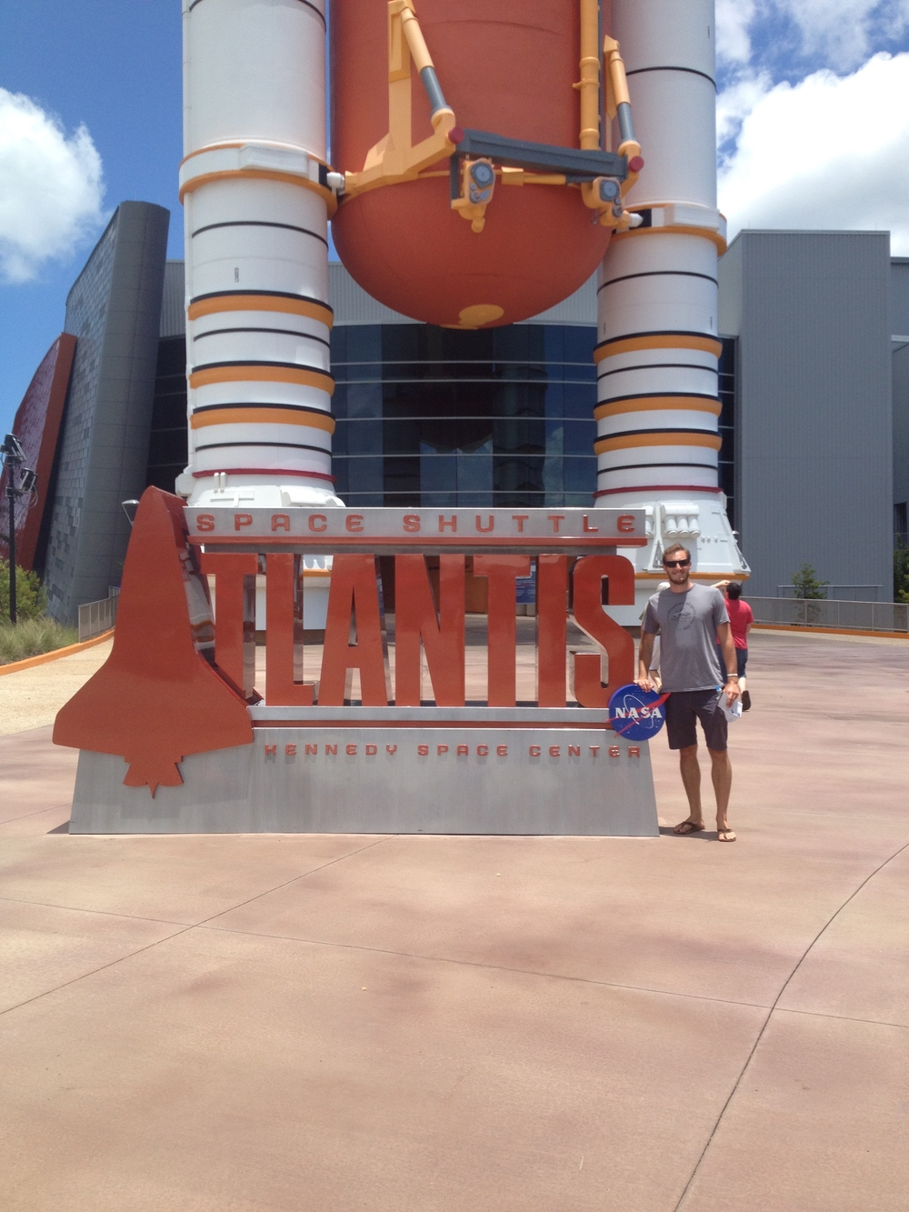 Excited to see the Atlantis Space Shuttle