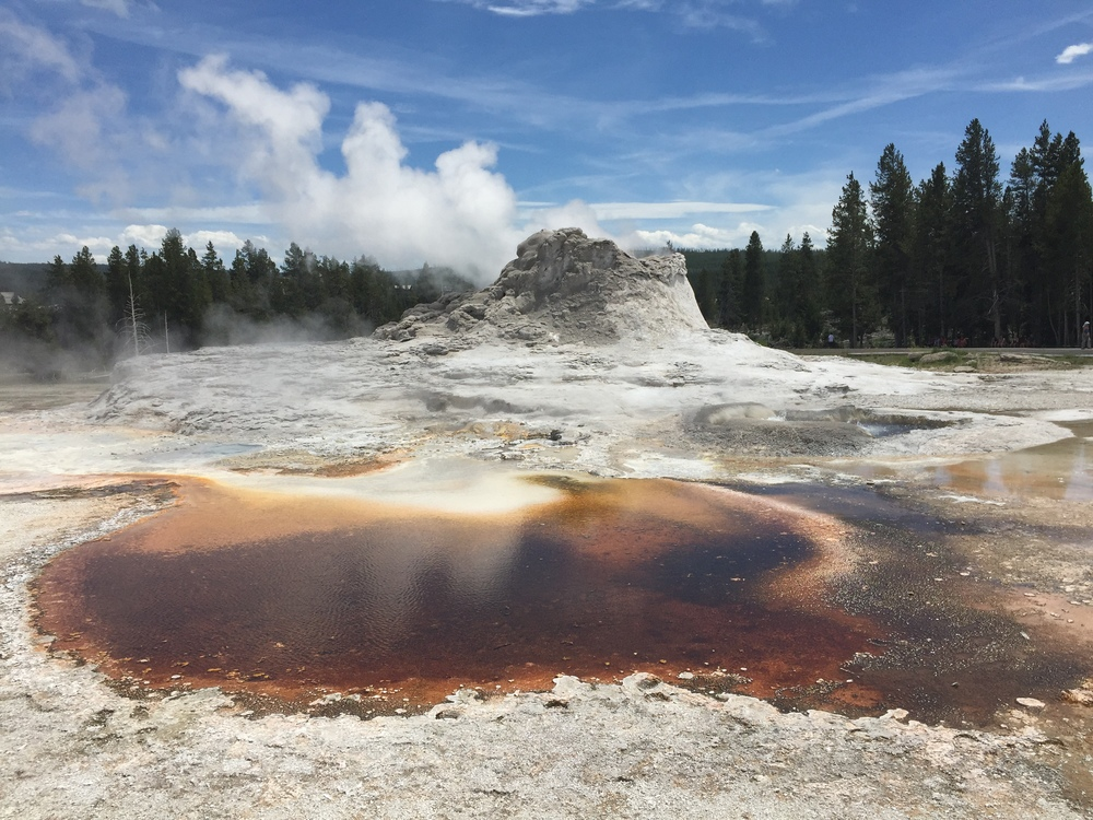 One of the geysers while not erupting