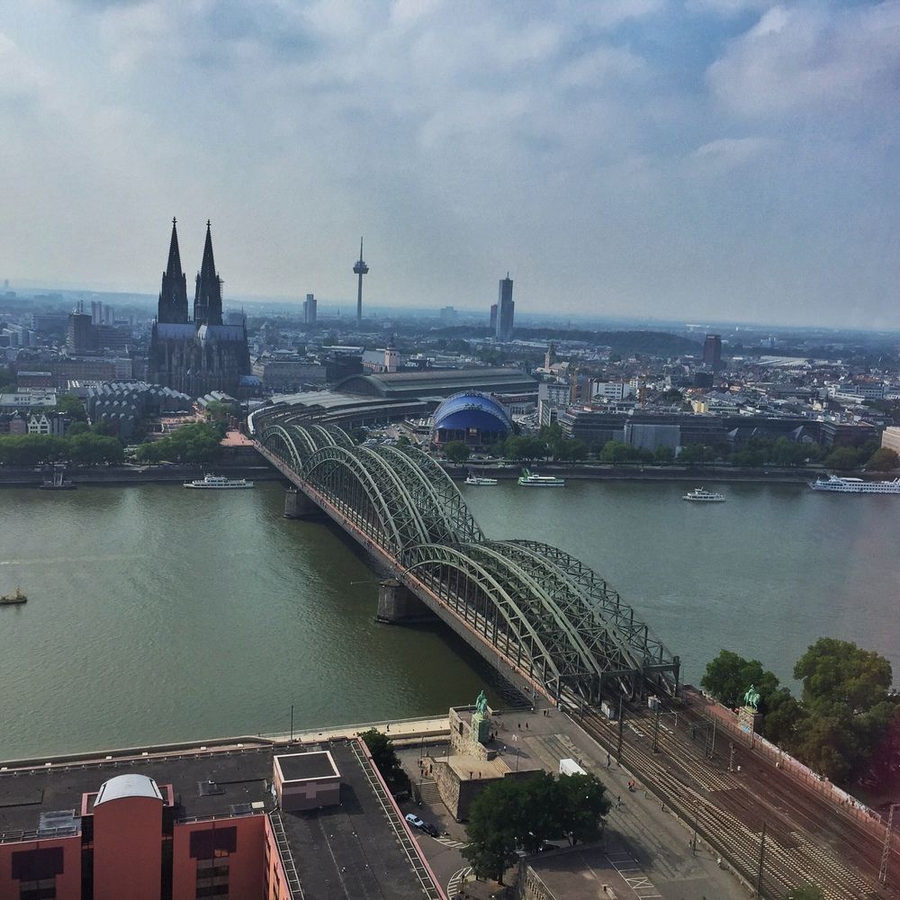 View of Cologne from the Cologne Triangle