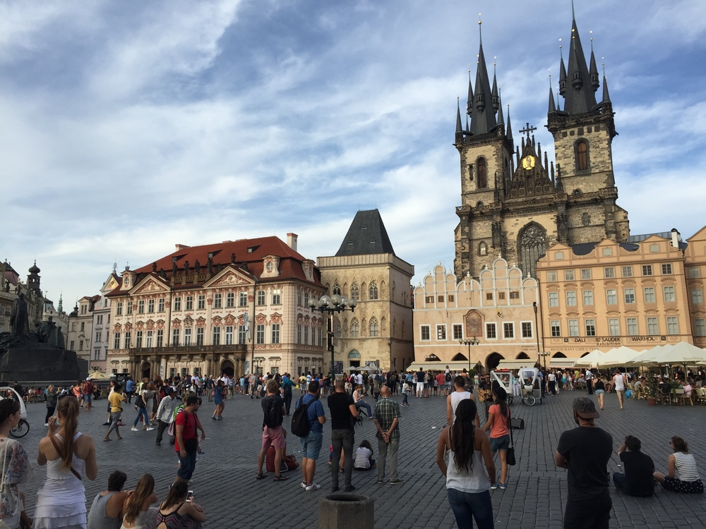 The Old Town Square of Prague