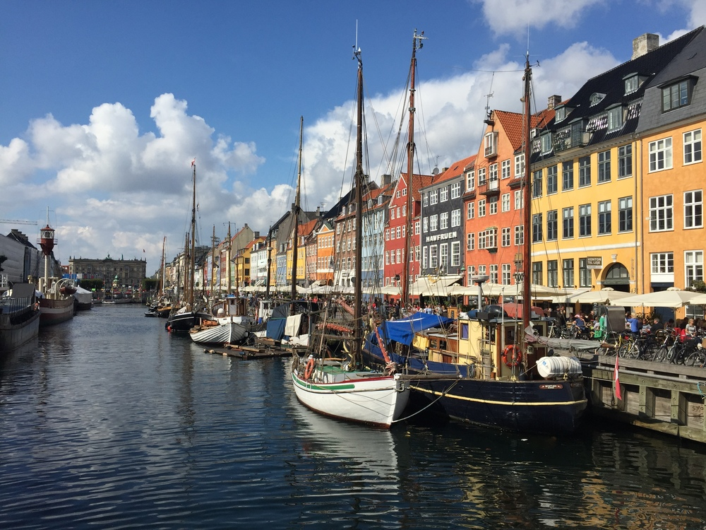 Beautiful Nyhavn Canal, the most famous street in Copenhagen and probably all of Denmark