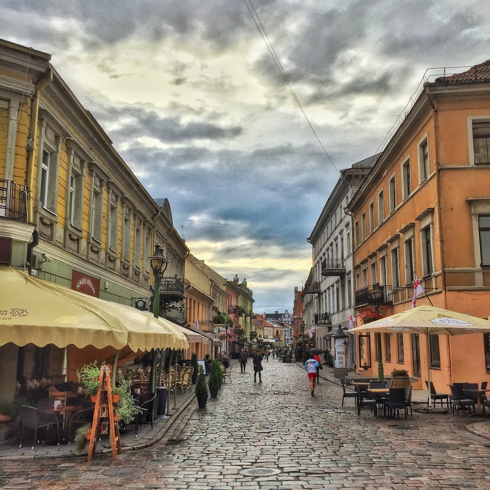 Old town streets of Kaunas