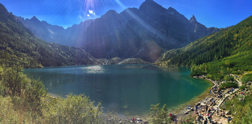 MORSKIE OKO, THE MAIN LAKE PEOPLE HIKE TO oN THE POLISH SIDE OF THE TATRA MOUNTAINS