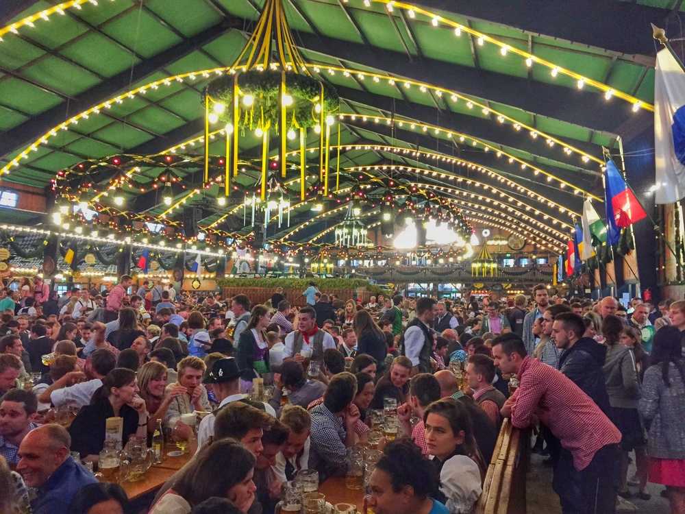 "A typical ""Tent"" on the Oktoberfest grounds"