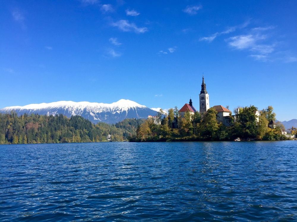 Lake Bled and the church on the island