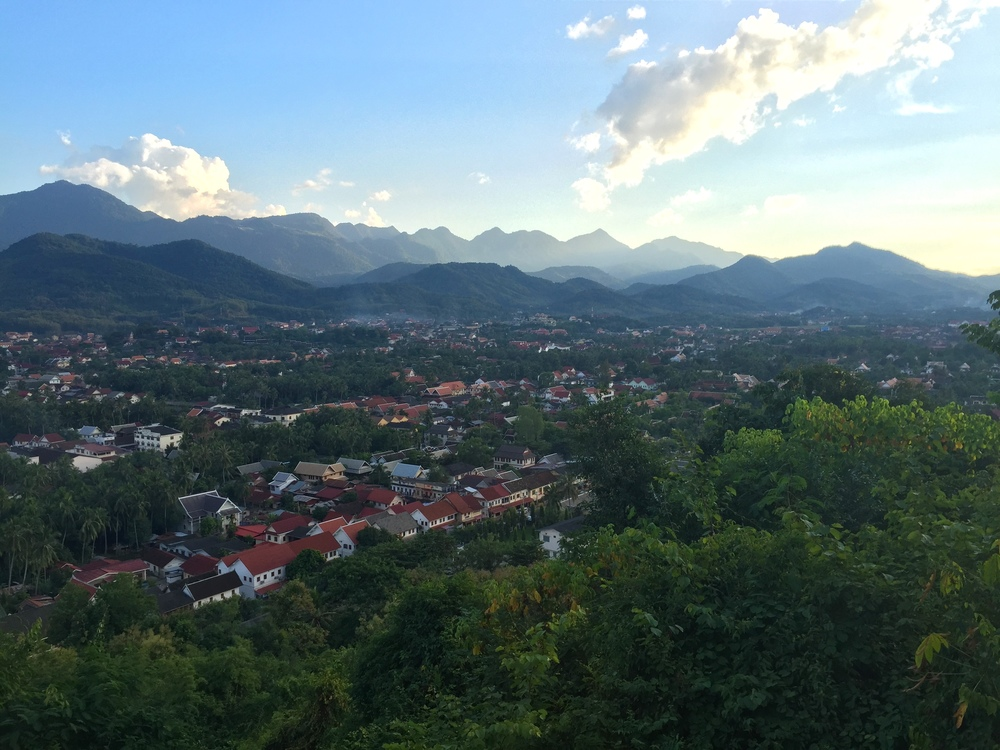 View of Luang Prabang from above