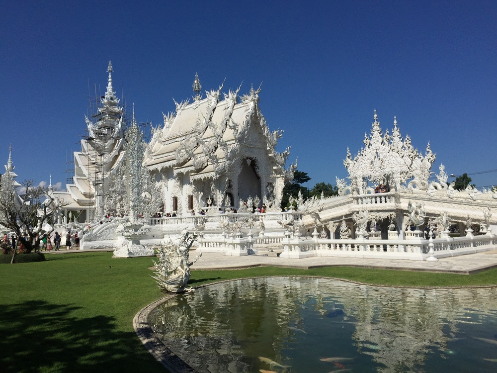 Wat Rong Kun from across the water