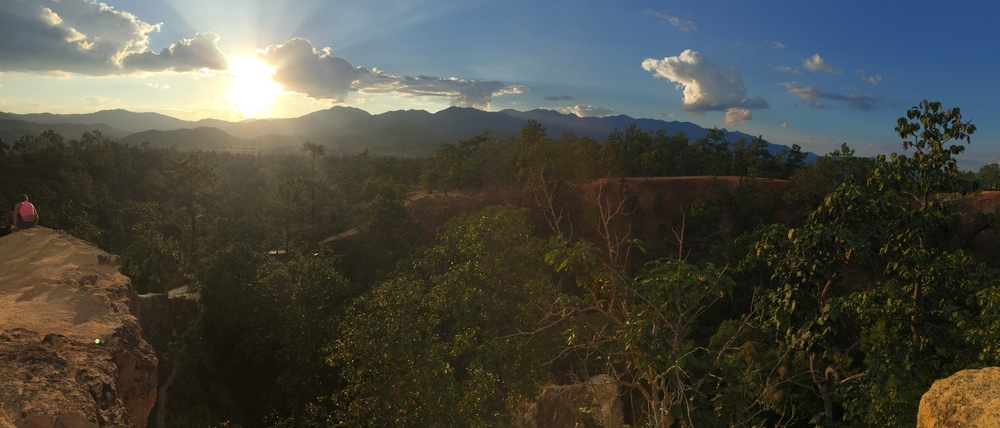 The Pai Canyon, a fifteen minute drive outside of town with amazing sunset views of the mountains beyond
