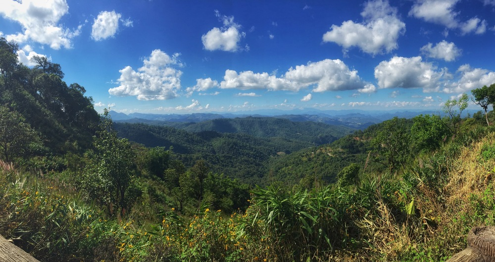 Views from the pass over the mountains between Pai and Mae Hong Son