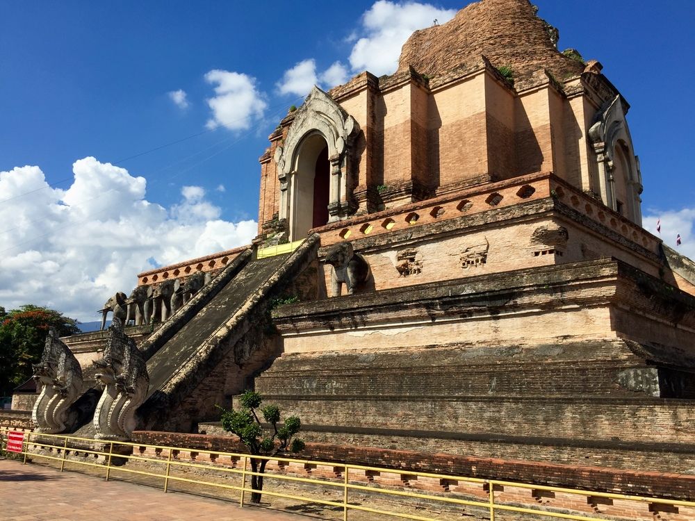 Wat Chedi Luang in the center of Chiang Mai