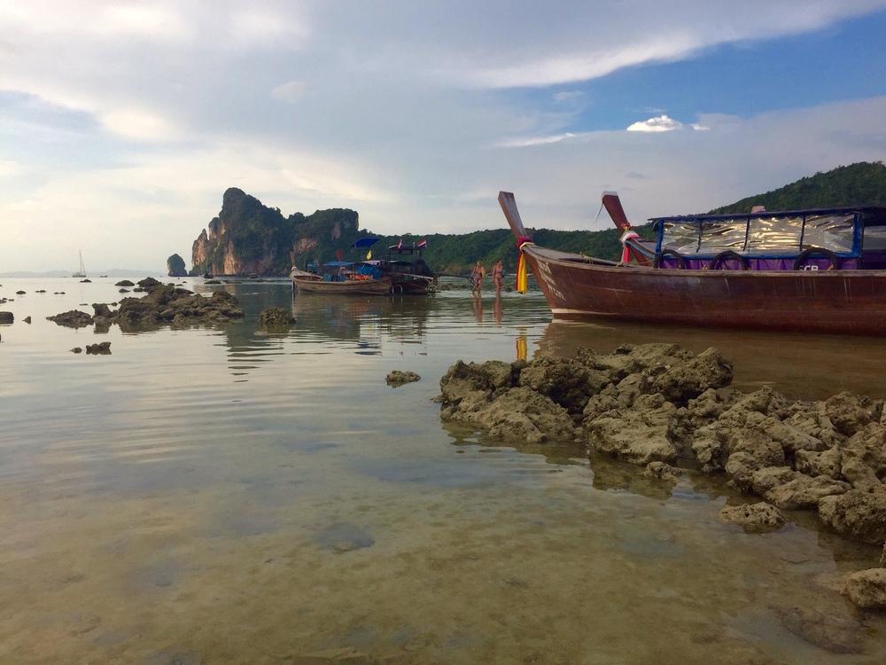 Main bay of Koh Phi Phi Don at low tide