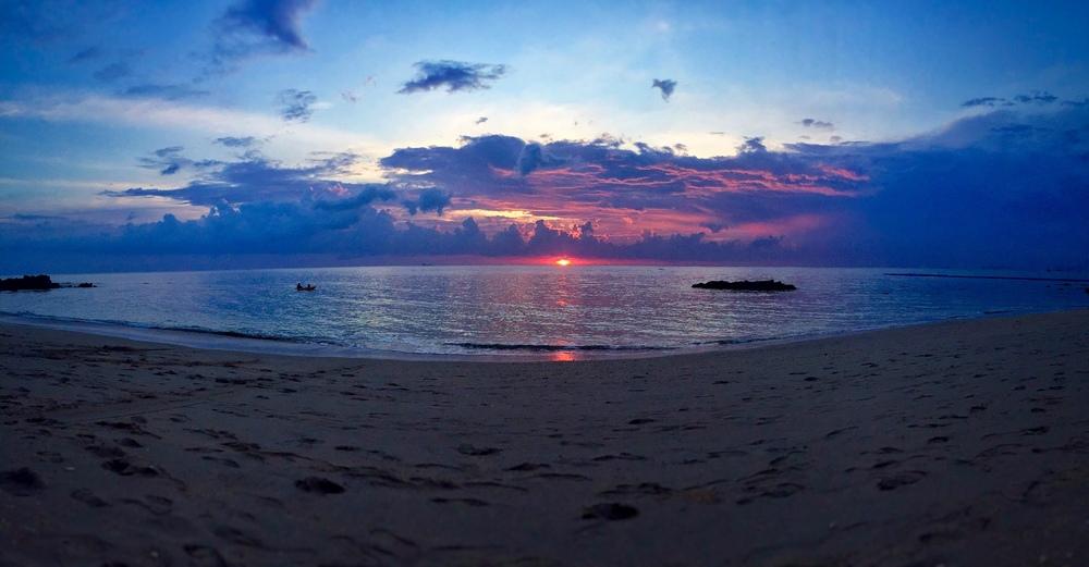 Koh Lanta sunset on my first night on the island
