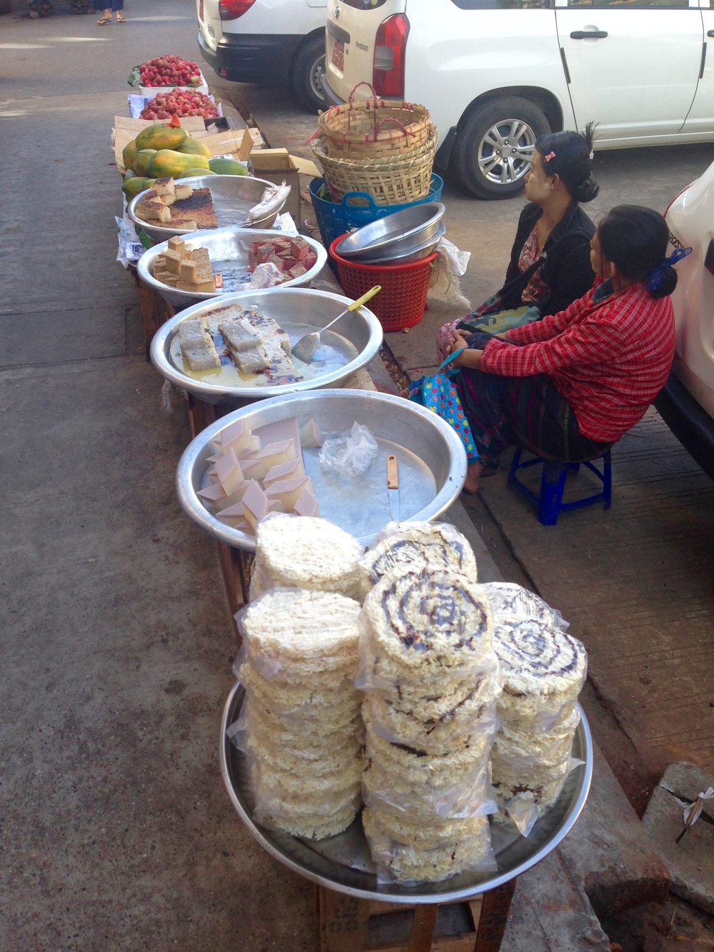 Delicious breakfast treats on the street in yangon!