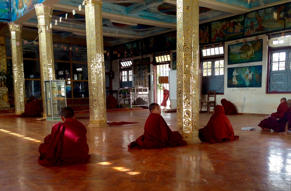 Some Novice monks in Kalaw studying