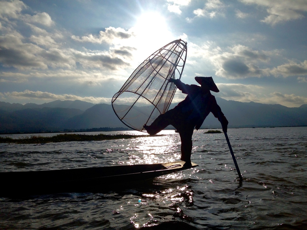 A great picture, but unfortunately this was posed for and the fisherman of Inle Lake no longer practice this type of fishing