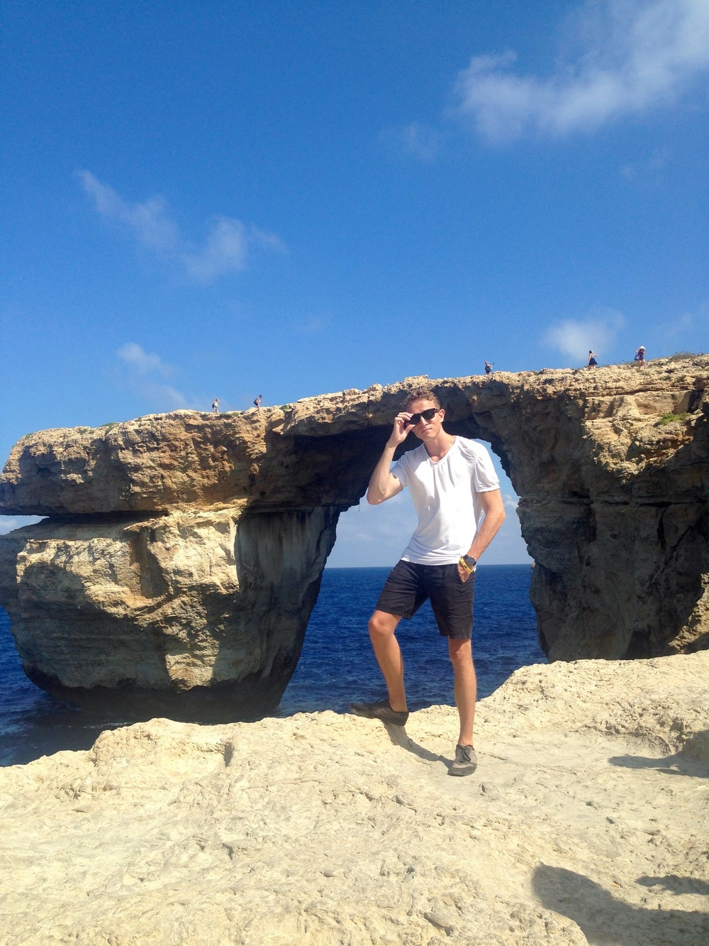 Me, posing by the Azure Window on the island of Gozo.