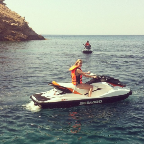 me on a jet ski in Benidorm, spain :-)