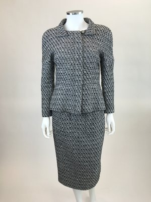 99c8b360804 Chanel Grey Tweed Skirt Suit ...