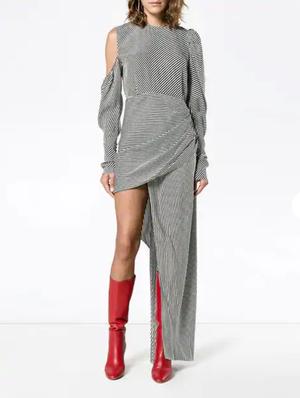 35a5823e8 Magda Butrym Sevilla Striped Silk Dress ...