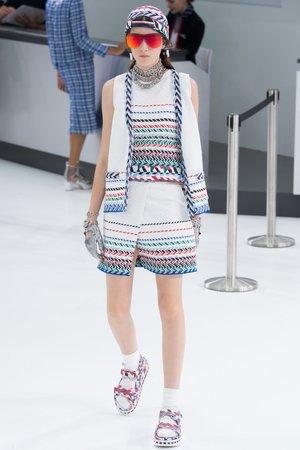 d64ba17438b Chanel Airplane Spring 2016 Top   Skirt ...