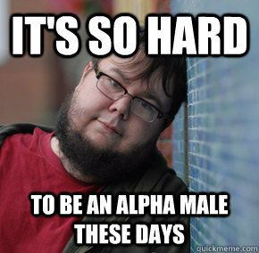 Being alpha is tough. (  Source  )