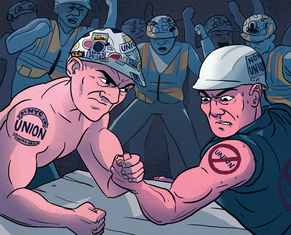 "No, that's not what I mean by ""unionized."" ( Image )"