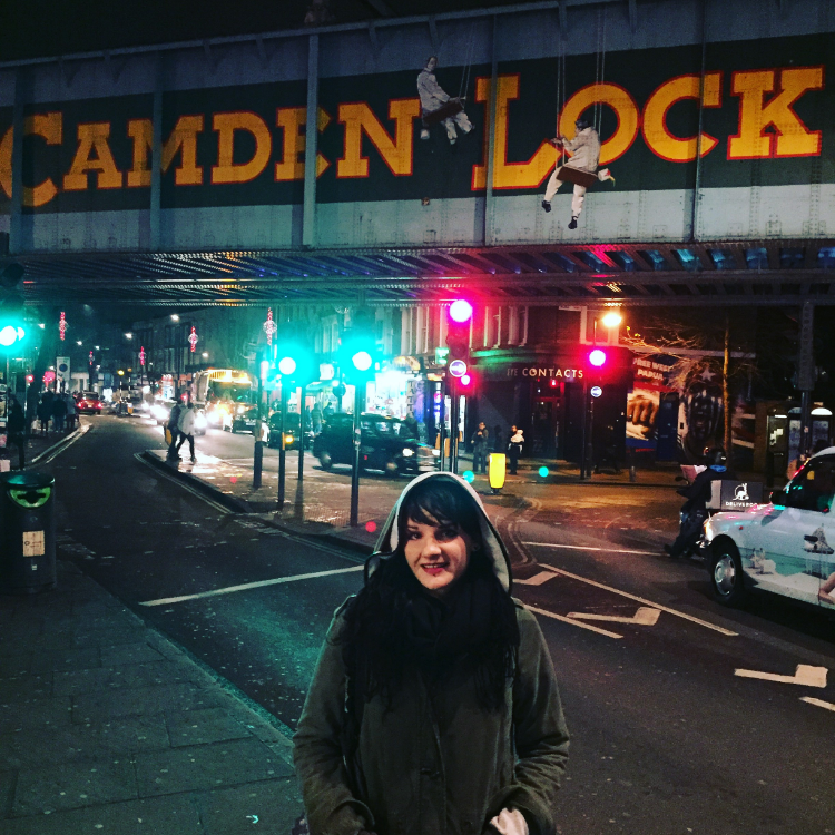 In Camden Town after recording along the canal