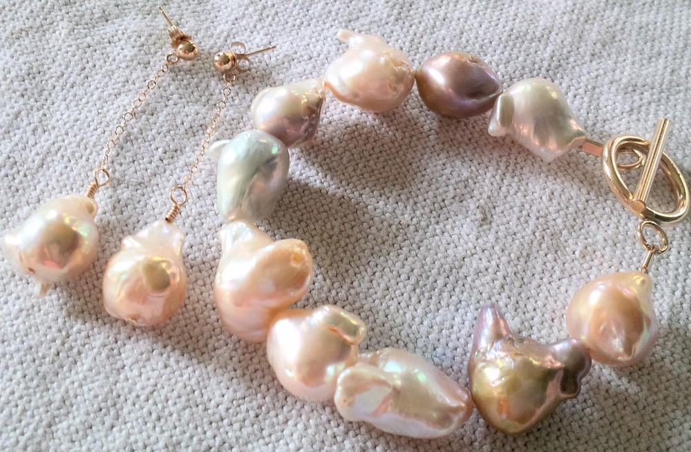 multi-colored baroque pearl