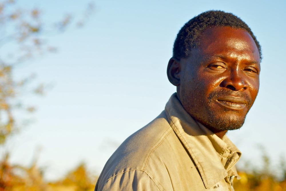 A tour guide in the Okavango Delta.