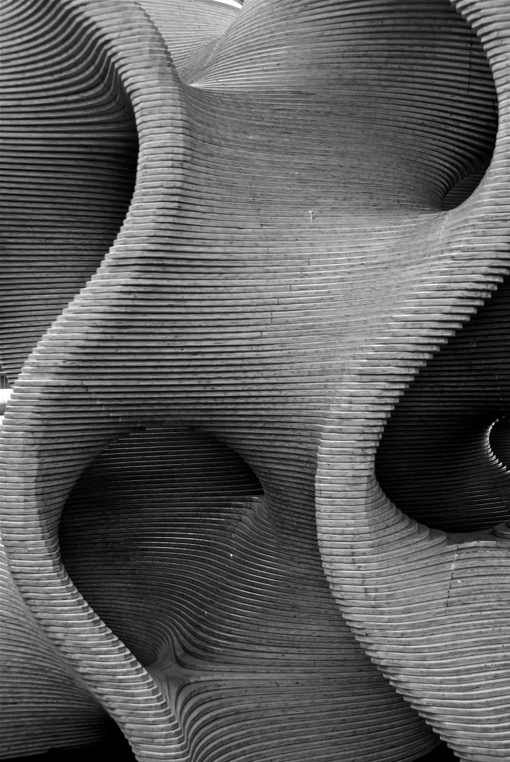 Gyroid sculpture at the Exploratorium, San Francisco, California, USA