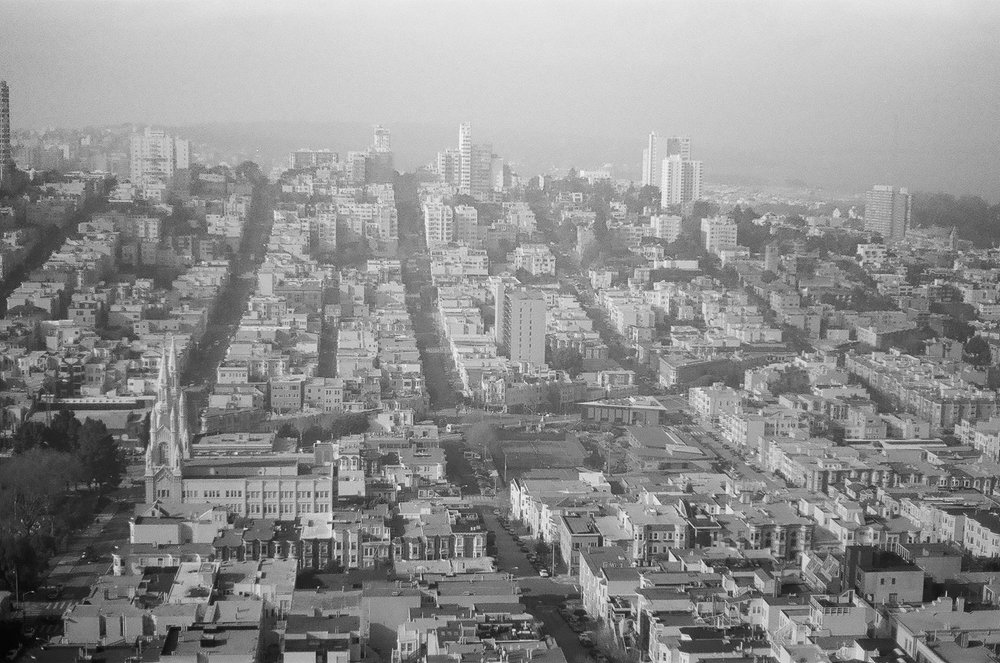 Russian Hill viewed from Coit Tower, San Francisco, California, USA