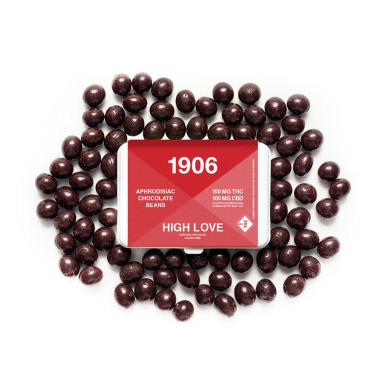 1906 High Love Beans - HIGH LOVE beans, chocolate covered energy beans for lovers on the go.LEARN MORE