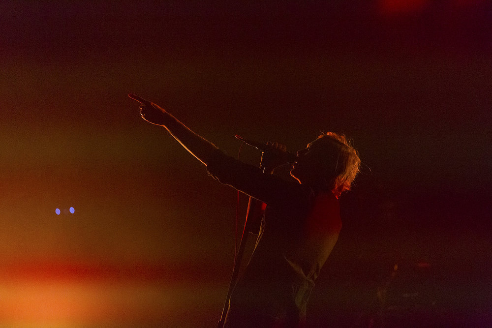 Aaron Richard Bruno, lead singer of Awolnation,  performed at a show at United Center, May 12, 2016