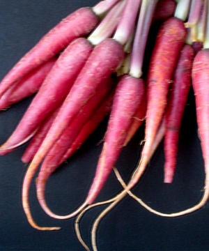 organic red carrots