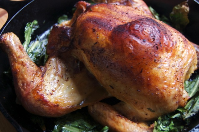 5 spice splayed chicken