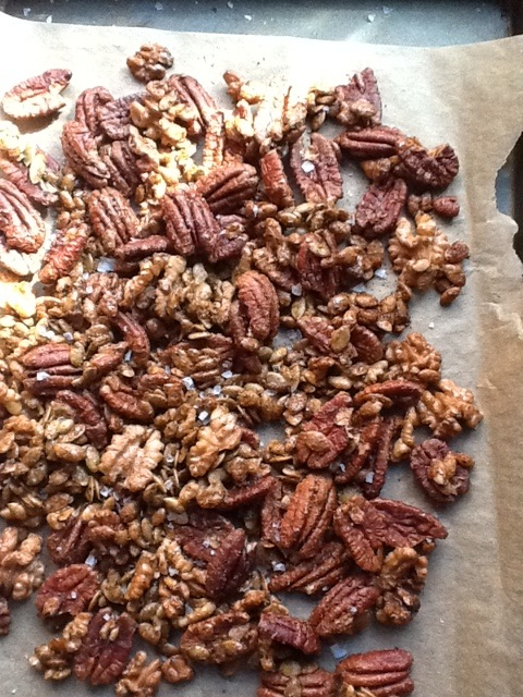 Five Spice nuts cooling