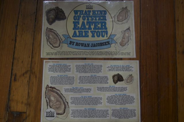 Rowan Jacobsen's Oyster Lover Profiles