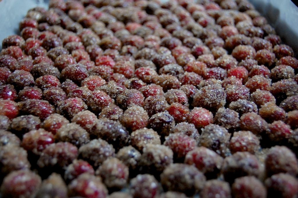 Crackly Sparkling Cranberries