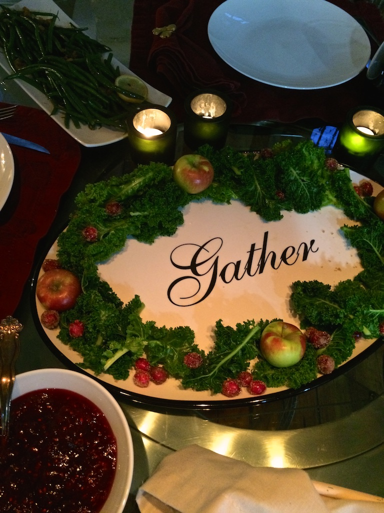 Gather platter cranberry