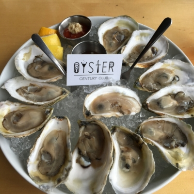 Oysters at the Old Port Sea Grille, Portland Me.