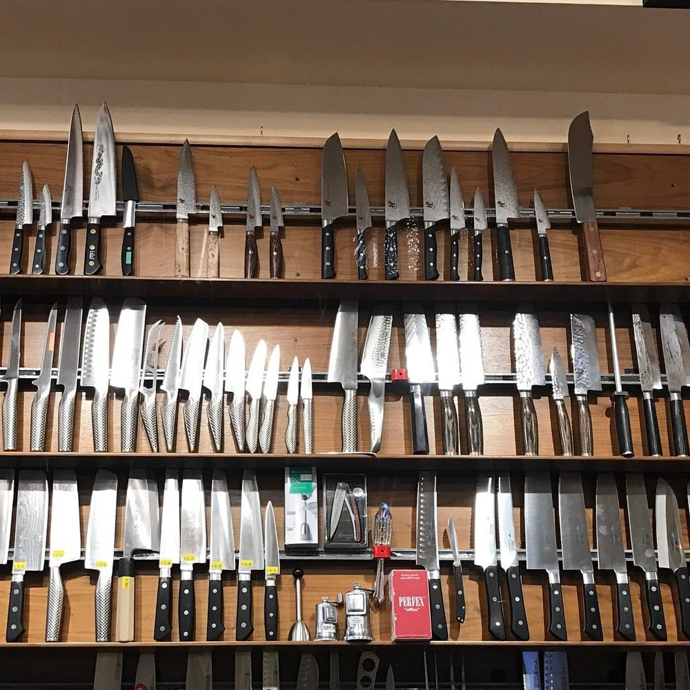 Knives at Kitchenwares a favorite shop!