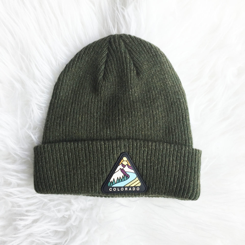 942e67df259 ... hat with pom 964d2 02b70  low cost colorado triangle beanie c71ae ede5d