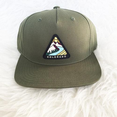 d48f4e18e3874 Colorado PVC Patch Olive Green Snapback.  Ranger Hat.jpg