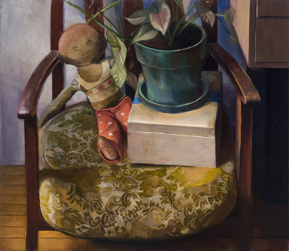 "A Look Back   Dimensions: 22""x25""  Medium: Oil on Linen  Year: 2013"