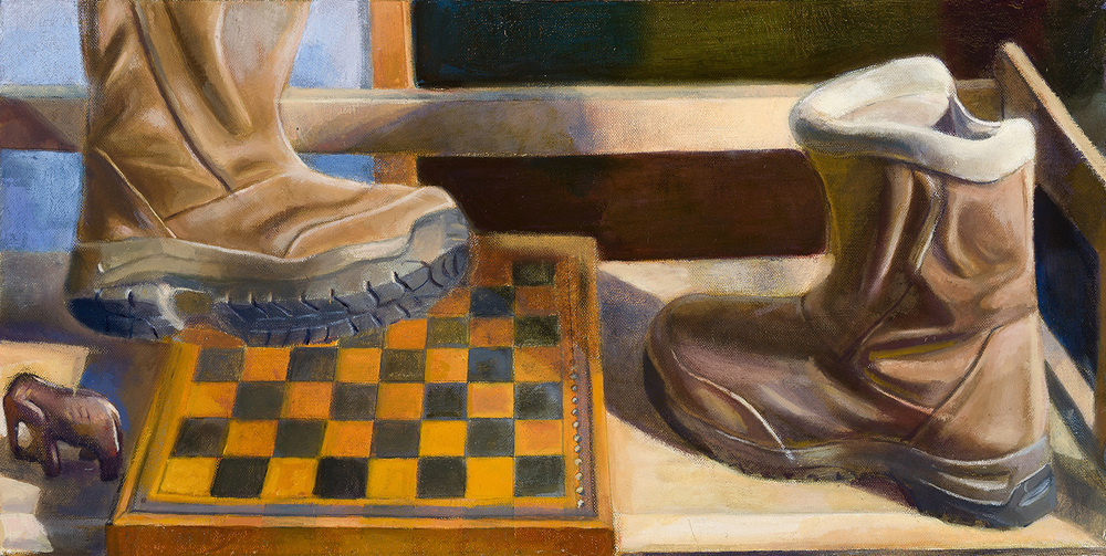 "Journey   Dimensions: 13""x26""  Medium: Oil on Linen  Year: 2012"